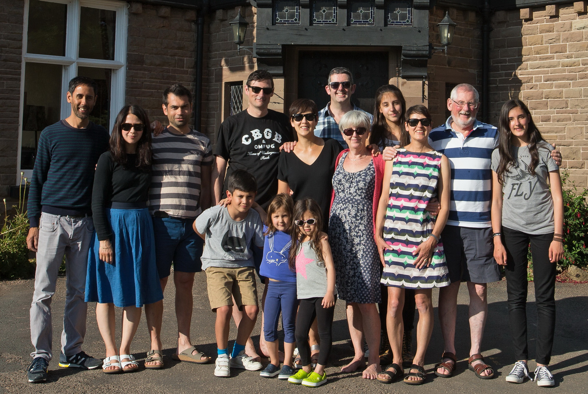 Three generations on holiday in England, July 2015. Mum couldn't be with us as she is now in a care home. Dad's younger sister, my aunty, joined our gang.