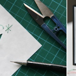Cut-out Christmas card – how I did it.