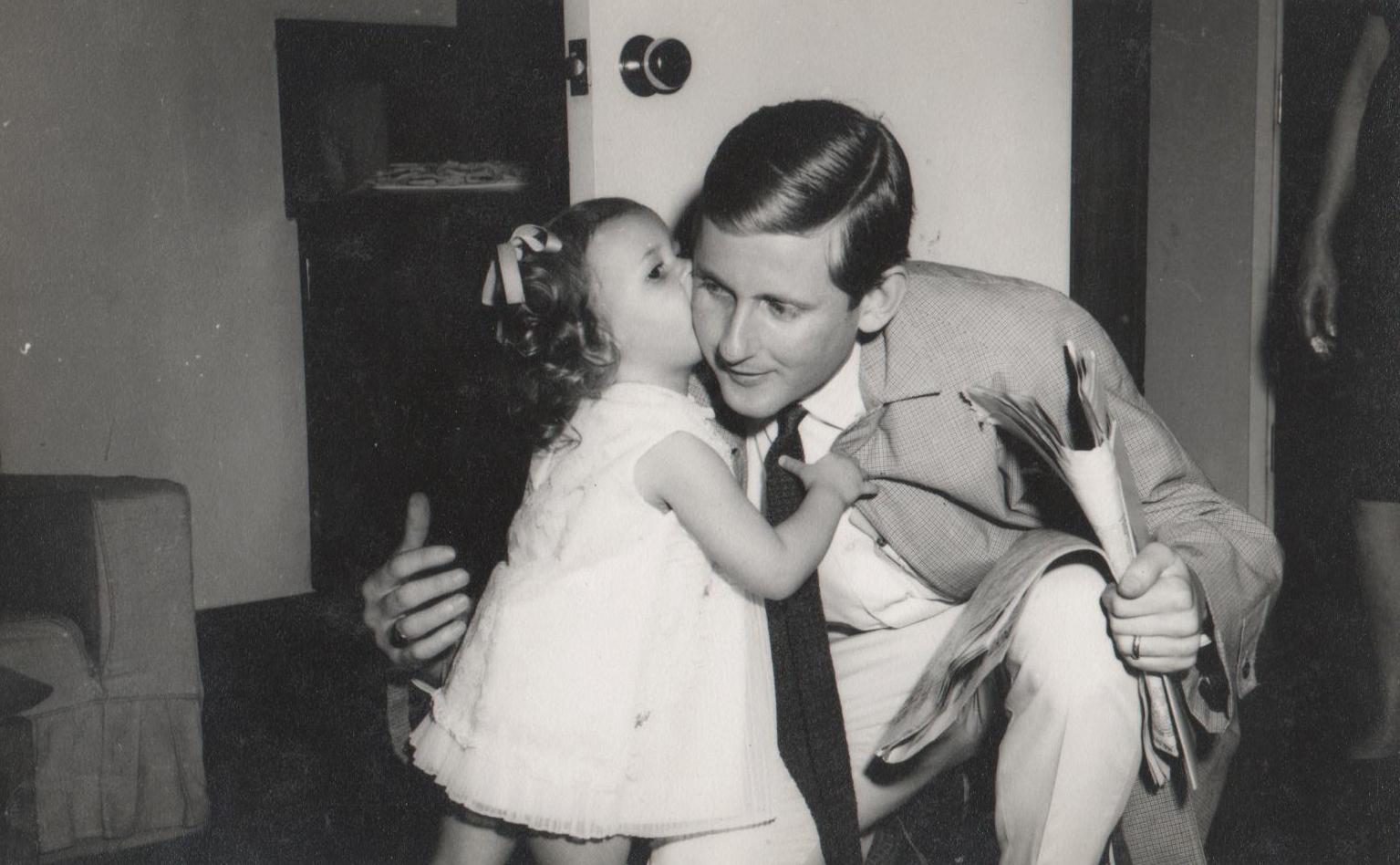 Dad and me on my second birthday.