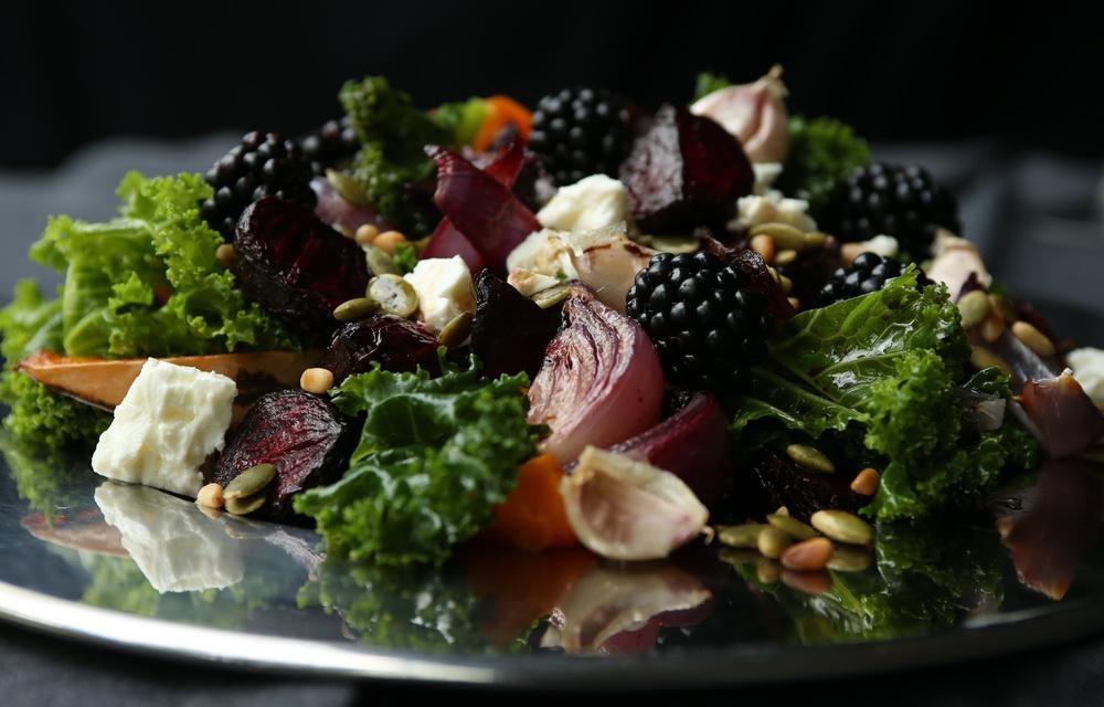 Winter kale salad detail
