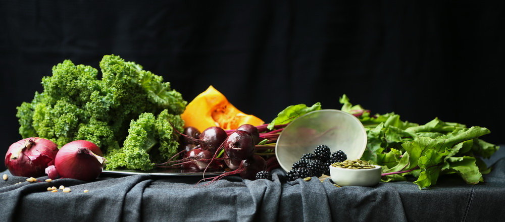 Kale Salad Ingredients.