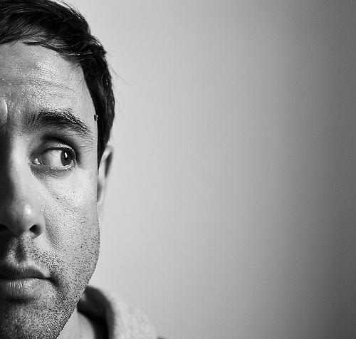 Greg Morgan self portrait.