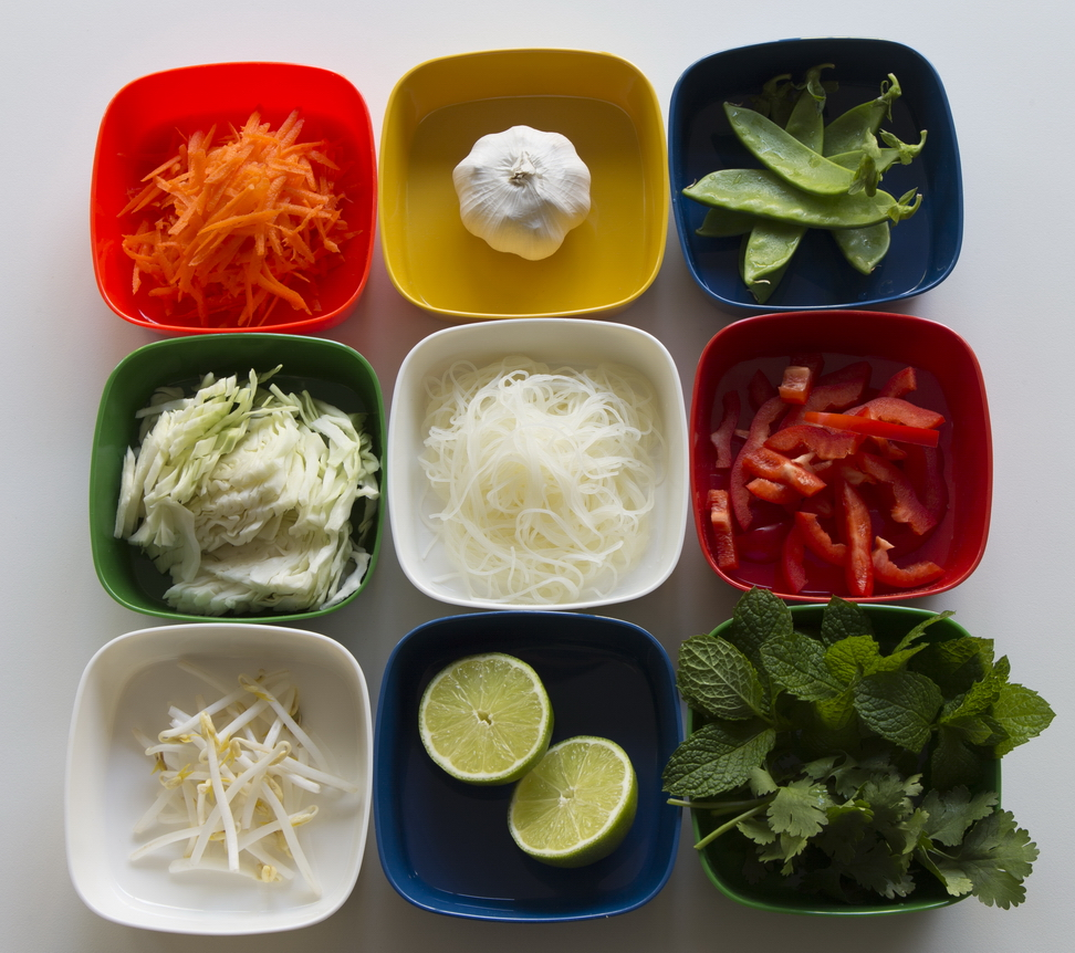 Noodle salad ingredients