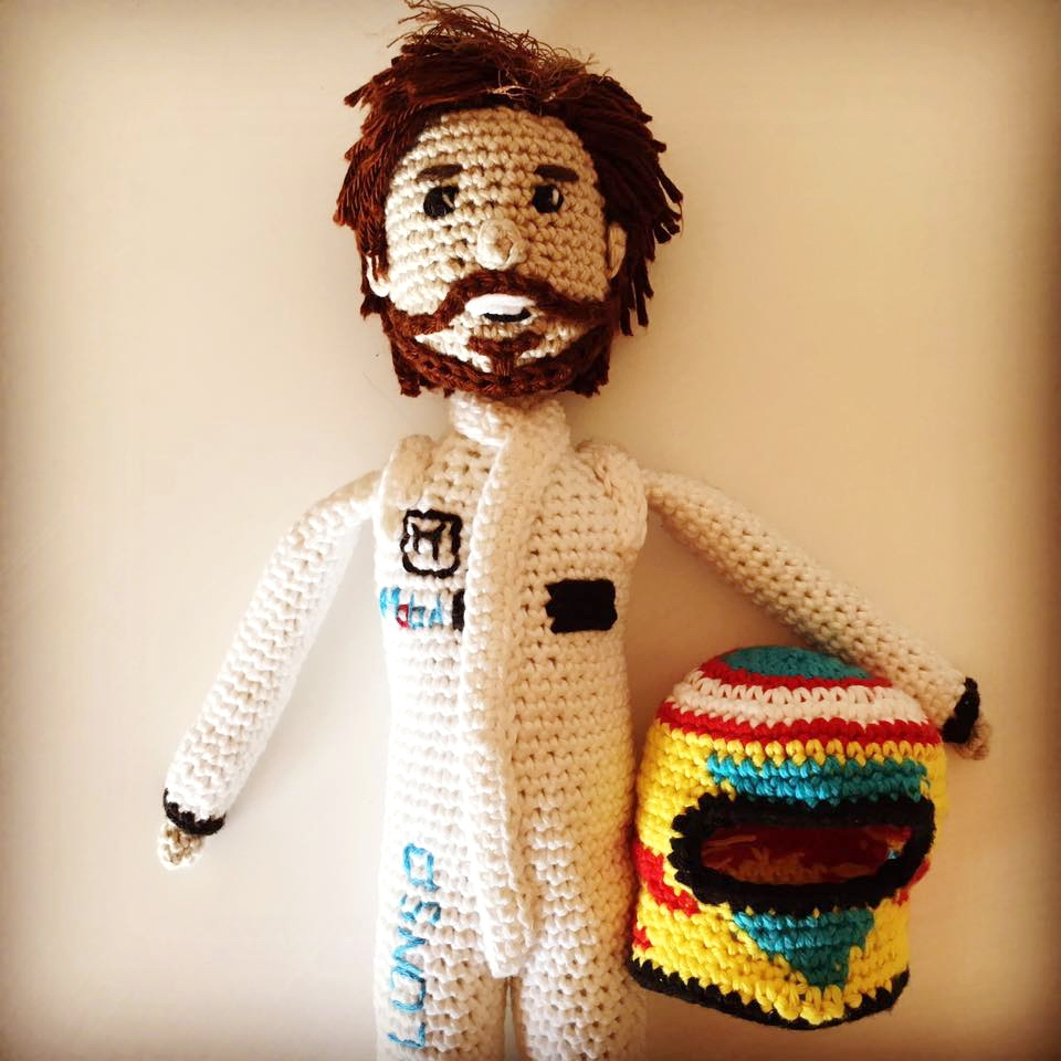 Lucy Ward Design Fernando Alonso doll.