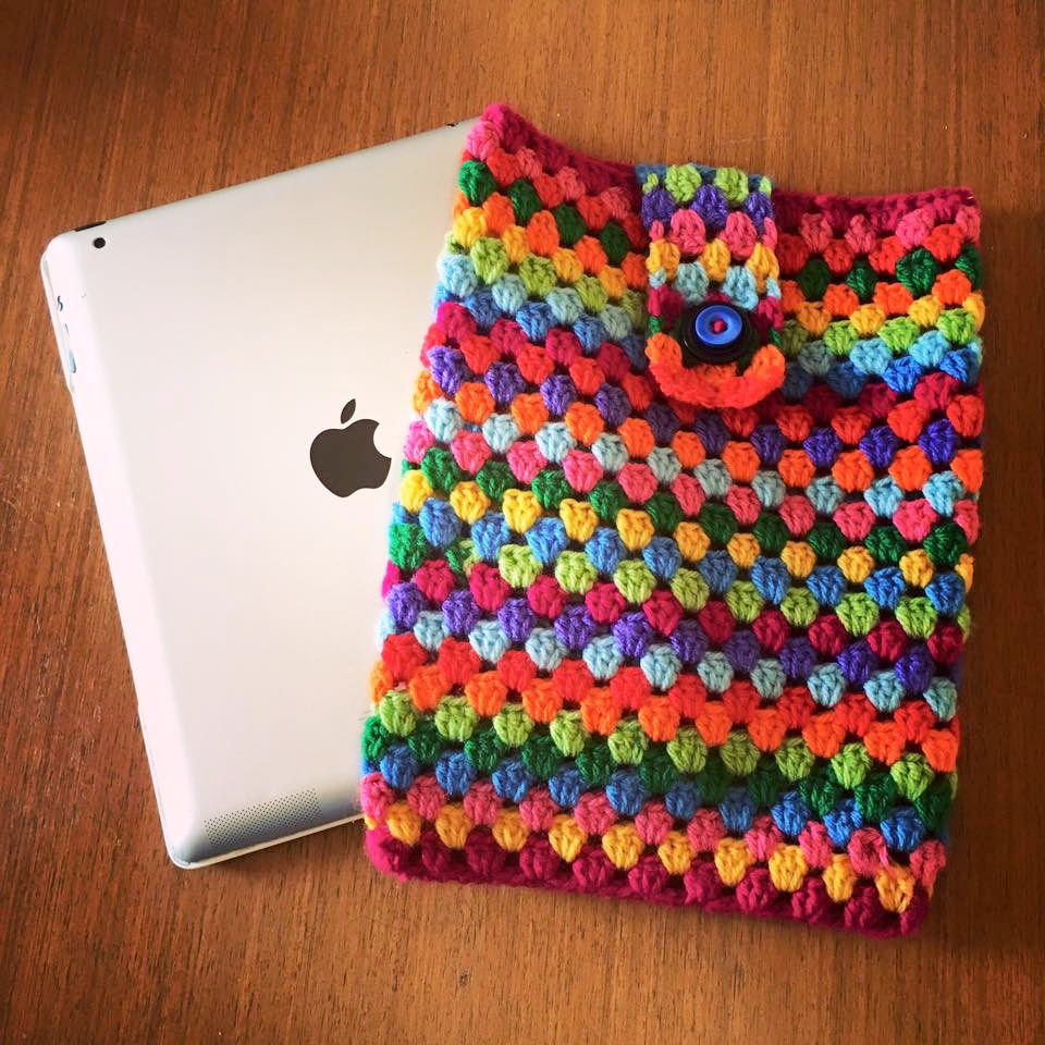 Lucy Ward Design Crochet Ipad Cover