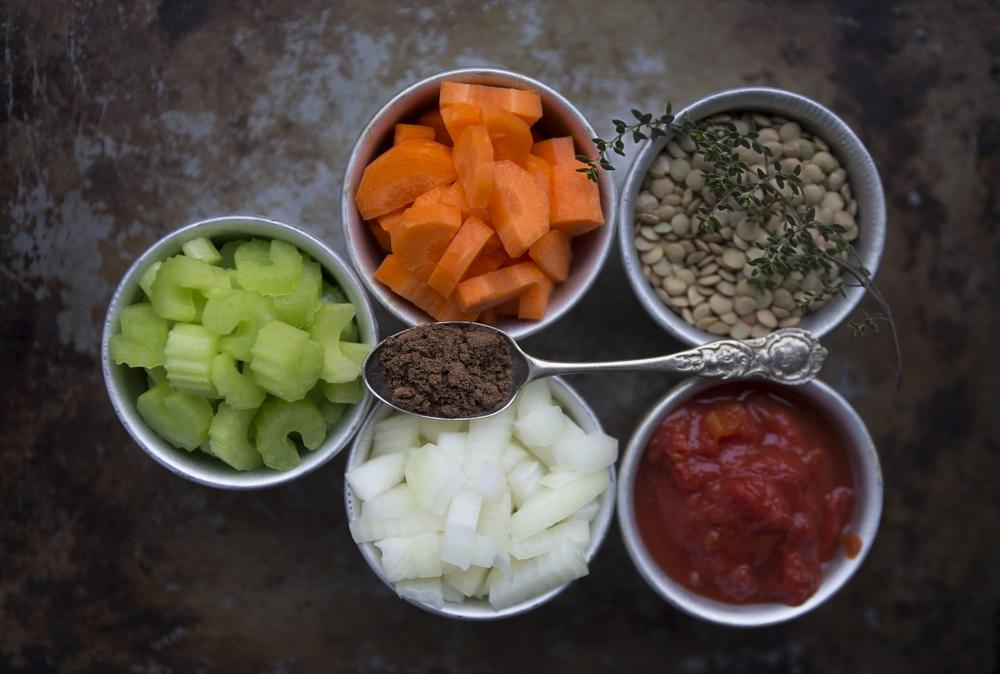 Lentil Soup Prep