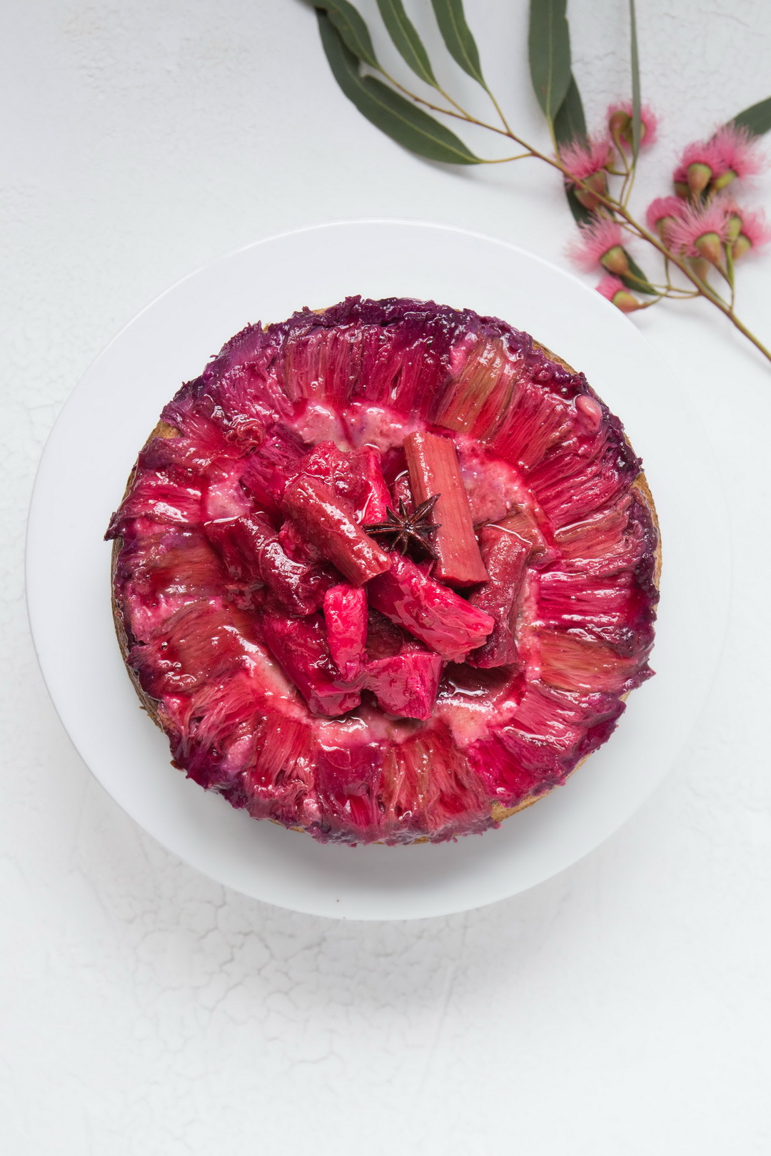 The Urban Nest Rhubarb, Almond and Star Anise Cake